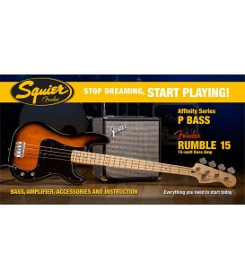 AFFINITY SERIES PRECISION BASS, RUMBLE 15 PACK DE BAJO SQUIER