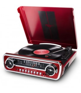 PLATO GIRADISCOS ION MUSTANG LP RED