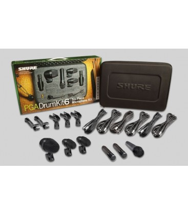 PGA-DRUM-KIT-6 SET MICROFONO BATERIA SHURE