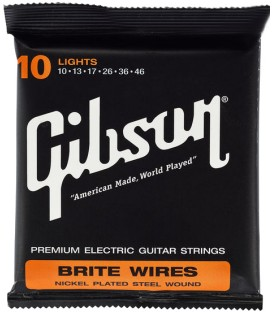 CUERDAS PARA GUITARRA ELECTRICA GIBSON BRITE WIRES LIGHTS 10-46