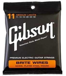 CUERDAS PARA GUITARRA ELECTRICA GIBSON BRITE WIRES ML 11-50