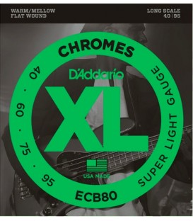 CUERDAS PARA BAJO DADDARIO ECB80 SUPER LIGHT CHROMES