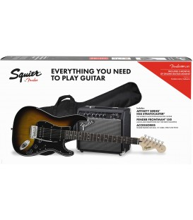 PACK DE GUITARRA ELECTRICA SQUIER AFFINITY STRATOCASTER HSS BSB