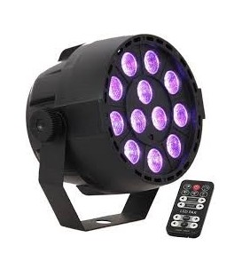 PROYECTOR PAR DE LED 12 x PAR-MINI-RGB3 IBIZA LIGHT