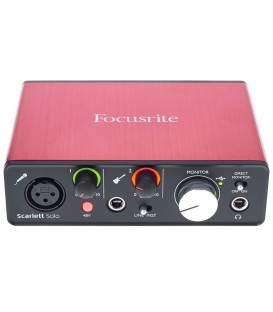 INTERFACE DE AUDIO FOCUSRITE SCARLETT SOLO 2ND GEN