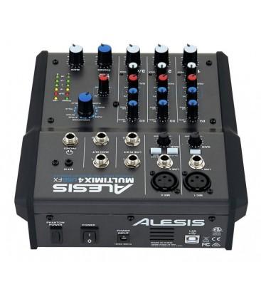 MEZCLADOR ALESIS MULTIMIX 4 USB FX